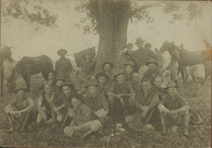 Old World War I photo in need of photo restoration