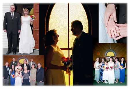 A beautiful case of photo editing resulting in a memorable wedding photo montage